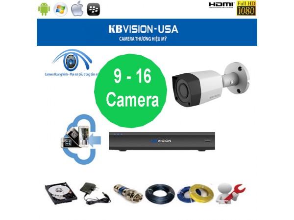 Trọn bộ camera KBVision 16 Kênh KX-1001CS 1.0 Megapixel